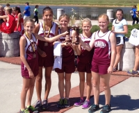 Girls JV Team, 2nd place in the 2.1 mile